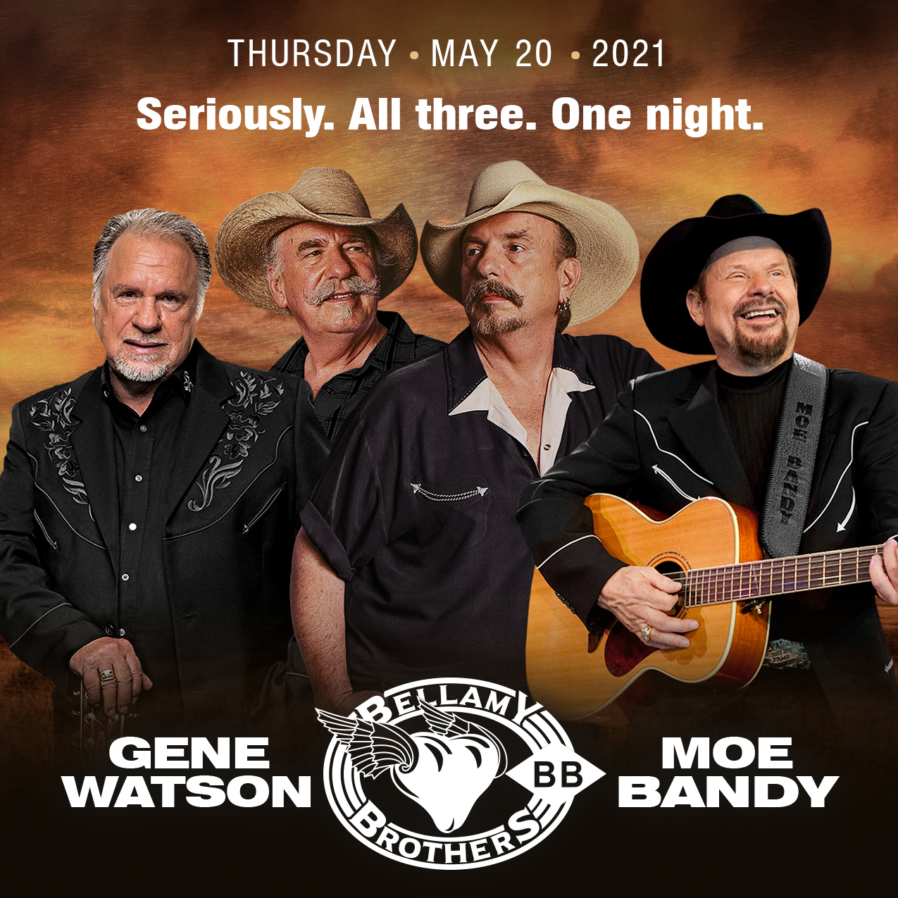 Gene Watson, Bellamy Bros., Moe Bandy