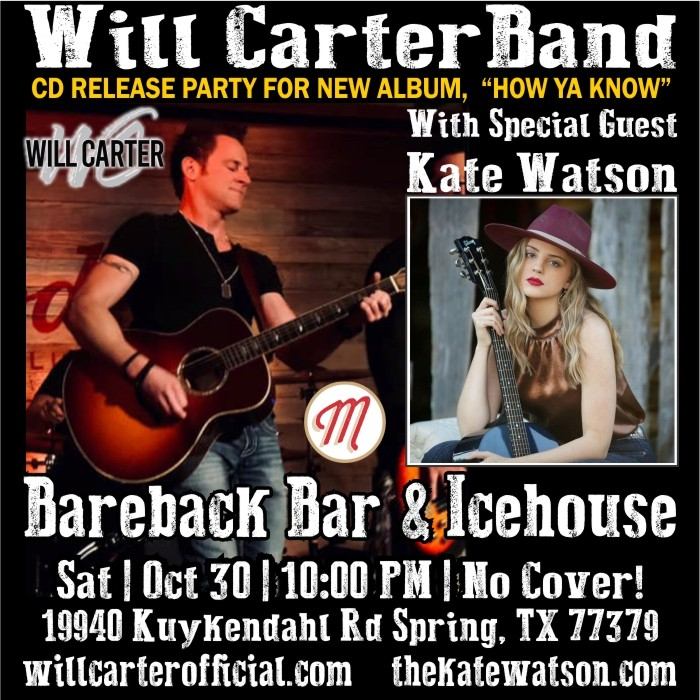 Will Carter CD Release Party